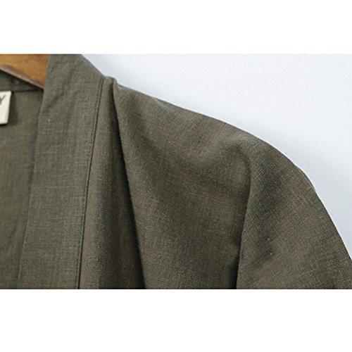 manicotto giapponese donne stile dell'abito del cotone vestito veste 01 del il di Il del di cotone kimono Colore eleganti di vestito delle lungo panno dISFWq