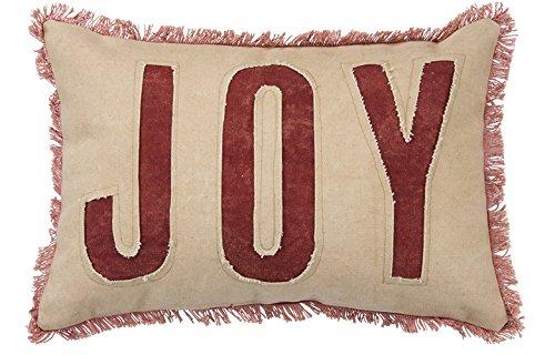 Primitives by Kathy Holiday Joy Cotton Throw Pillow (Pillows Primitive Christmas)