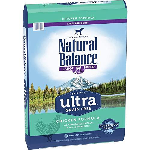 Natural Balance Original Ultra Grain Free Large Breed Bites Dog Food, Chicken Formula, 24-Pound Bag
