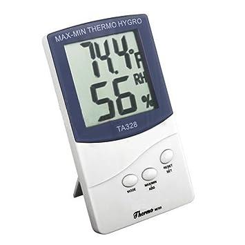 termómetro e higrómetro Digital LCD para exterior e interior, preciso: Amazon.es: Hogar