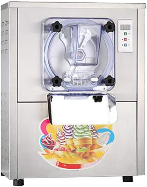 Commercial Hard Ice Cream Machine 20L/h Ice Cream Maker Food Grade 304 Stainless Steel Ice Cream Machine for Recreation Center Churches and Camps (1400W)