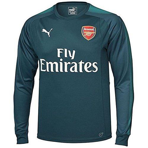 - PUMA 2017-2018 Arsenal Home LS Goalkeeper Shirt (Deep Teal) - Kids