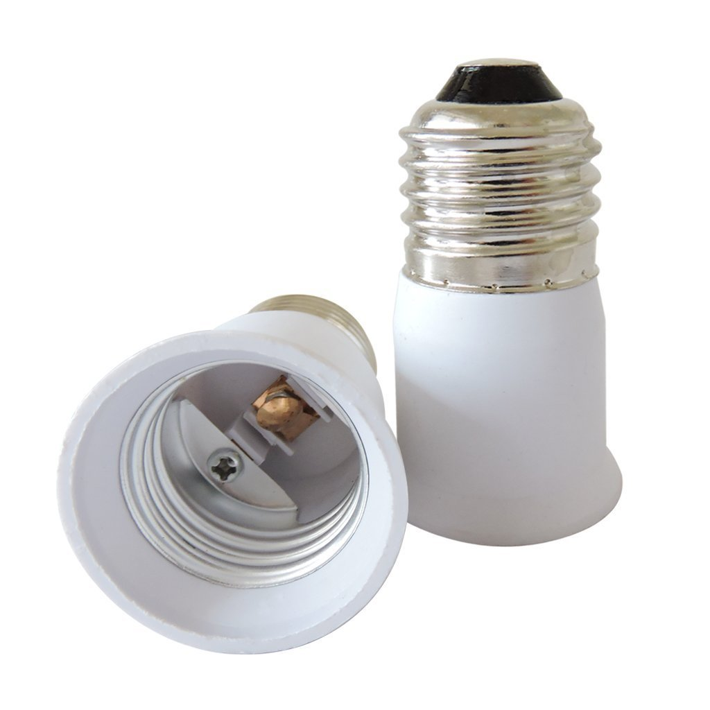 AspenTek E26 E27 to E26//E27 Edison Screw Converter Light Bulb Socket Lamp Holder for Standard US Light Bulbs 5 PCS E27 to E27 Psun ADE27-E27-5