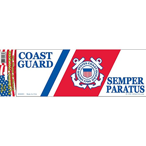 Coast Guard Semper Paratus Bumper Sticker - Coast Bumper Guard Stickers