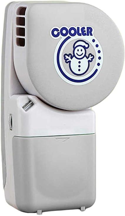 Innovadoras de mano sin aspas del ventilador de palma de carga USB enfriador de aire mini ventiladores sonriendo aire acondicionado, cenizas: Amazon.es: Hogar