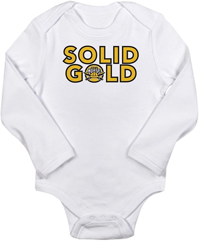 CafePress Northern Kentucky NKU Norse Solid Gold Body Suit Cute Long Sleeve Infant Bodysuit Baby Romper
