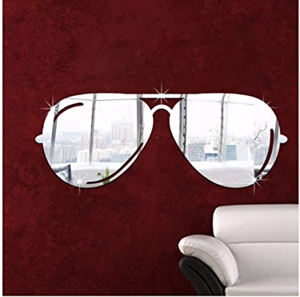 Kuamai Moderno Simple Arte Pegatinas De Pared Gafas De Sol ...