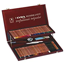 LYRA Rembrandt Polycolor Art Pencils, Set of 100 Pencils Plus Accessories, Assorted Colors (2004200) by Lyra