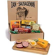 Dan the Sausageman Yukon Gourmet Gift Basket -Featuring Dan's Original Sausage,100% Wisconsin Cheese, and Dan's Sweet Hot Mustard