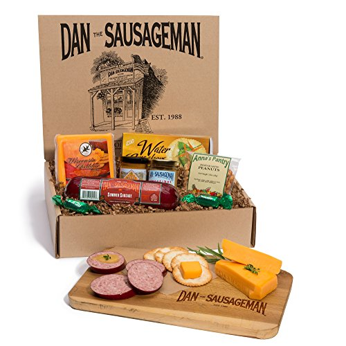 Dan the Sausageman's Yukon Gourmet Gift Basket -Featuring Dan's Original Sausage,100% Wisconsin Cheese, and Dan's Sweet Hot Mustard