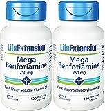 Life Extension Mega Benfotiamine Capsule, 250 Mg, 120 Vegetarian Capsules 2 Bottles