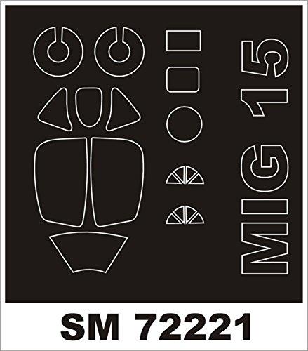 Montexミニマスク1 : 72 mig-15 for Eduard Kit Spraying Stencil # sm72221   B01G2Z2XFG