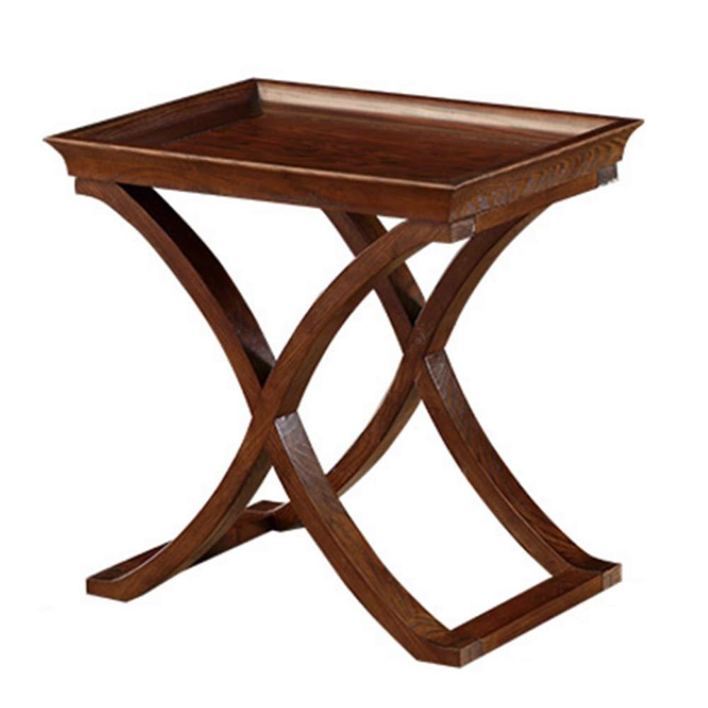 NAN Table Basse Americaine Coin Retro Quelques Bois Massif Salon rectangulaire Cote frene Bois  -