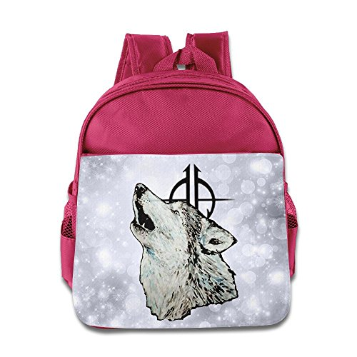 DiadsJun Sonata Wolf Boys Girls Cartoon School Backpacks Pink -
