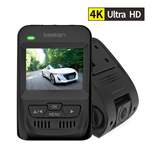 Car Dash Cam Recorder Dashboard Camera 4k WDR Dash Cam Capacitor Night Vision Camcorder Wide Angle Lens G Sensor Loop Recording Camera Windshield 2160p Keeken