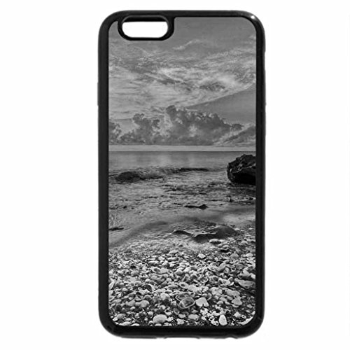 iPhone 6S Plus Case, iPhone 6 Plus Case (Black & White) - Low tide