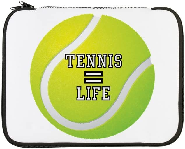 13 Inch Laptop Sleeve Tennis Equals Life