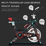 SHUOQI-Ciclette-per-casa-Bicicletta-per-Allenamento-per-Spinning-qualita-ProfessionaleVolano-bidirezionale-Trasmissione-a-Nastro-Fissa-Sedile-Regolabile-Display-LCD