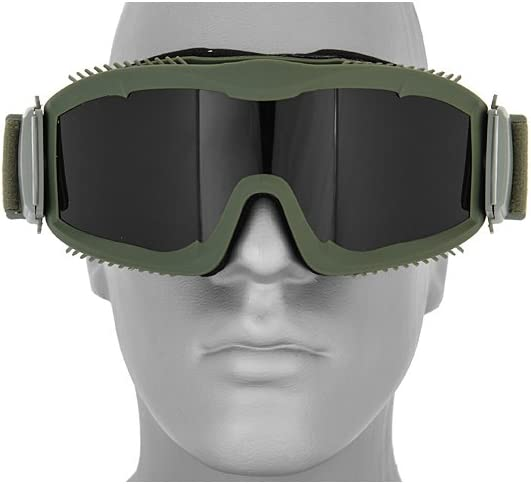 Lancer Tactical Airsoft CA-221GB Safety Goggles Smoke Lens Stylized Vents - OD GREEN