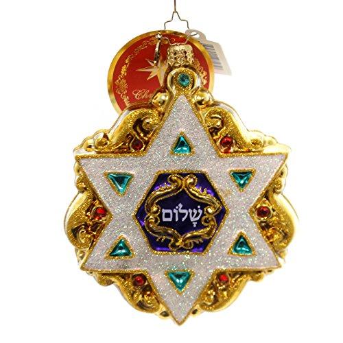 Christopher Radko Shield of David Star Christmas Ornament
