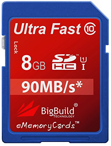 eMemoryCards 8GB Ultra Fast 90MB/s Memory Card For Pentax Optio S12 Camera | Class 10 SD SDHC (Part S Pentax Optio)