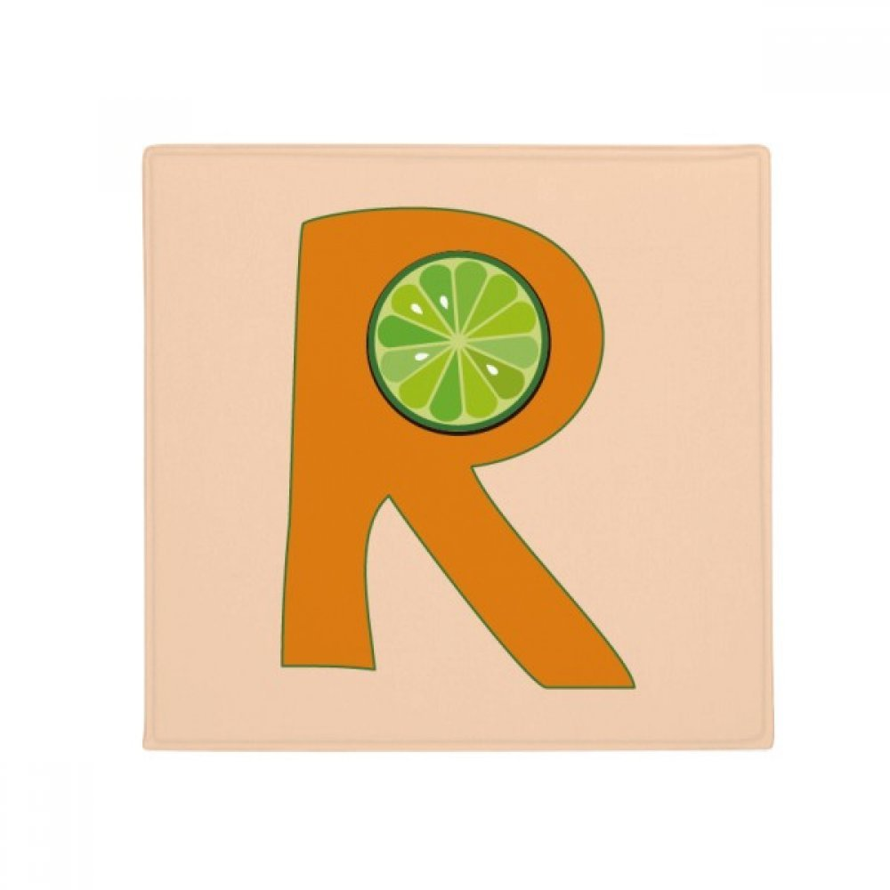 DIYthinker R Alphabet orange Fruit Anti-Slip Floor Pet Mat Square Home Kitchen Door 80Cm Gift