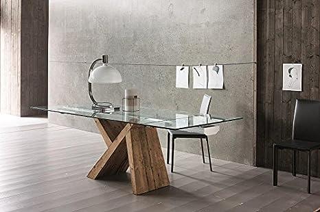 Tavoli In Legno E Vetro : Idea tavoli in vetro fisso tabia tavolo in legno e vetro fisso