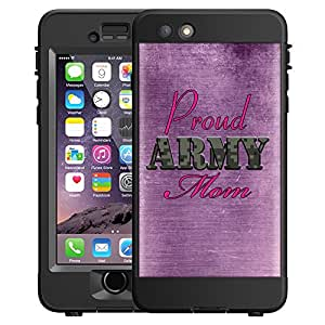 Skin Decal for LifeProof NUUD Apple iPhone 6 Case - Proud Army Mom Purple