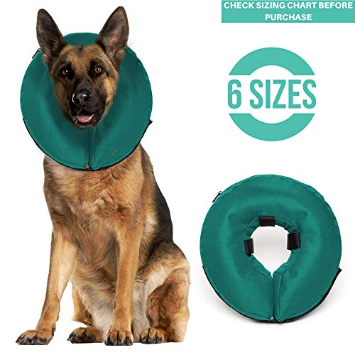 ProCollar Protective Inflatable Recovery Collar for Dogs and Cats - Soft Pet Cone Does Not Block Vision E-Collar - Designed to Prevent Pets from Touching Stitches, Wounds and Rashes (X-Large)