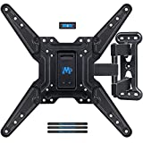Mounting Dream Full Motion TV Bracket Wall Mount with Perfect Center Design for most of 26-55 Inch LED, LCD, OLED Flat Screen TV, Mount with Swivel Articulating Arm, up to VESA 400x400mm MD2413-MX