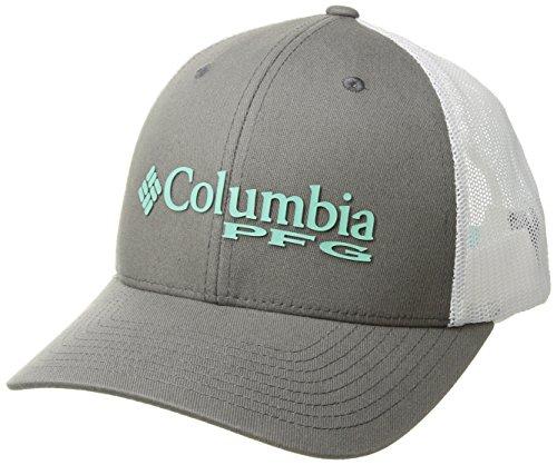 Columbia Women's PFG Mesh Ball Cap, Titanium/Pfglogo, One Size - Columbia Mesh Hat