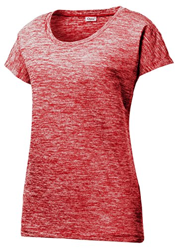 Opna Dolman Sleeve Moisture Wicking Athletic Shirts , Red, ()