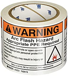 Brady 52021 Arc Flash Protection Label