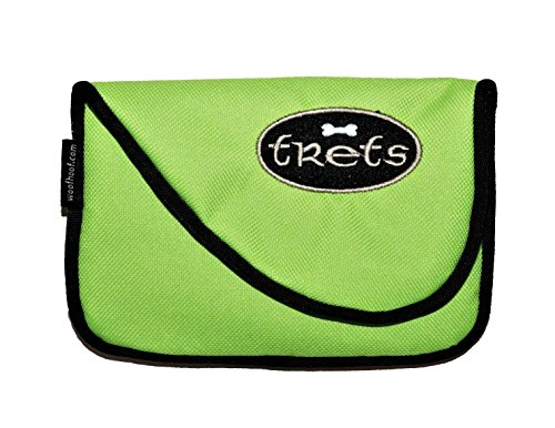 Woof Hoof Lime Green Magnetic Dog Cat Treat Pouch Training Rewards Bag For Treats Snacks with Belt Clip For Small n Large Pets Professional Quality