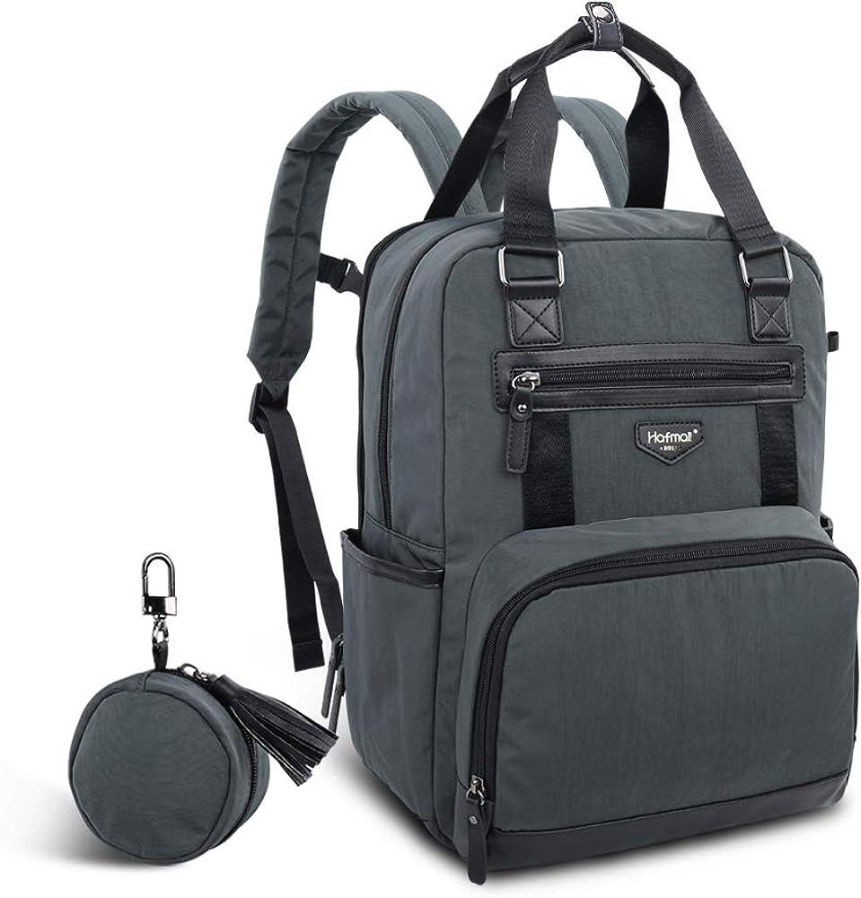 Hafmall おむつバッグ - 防水 大型 旅行用バックパック おしゃぶりポケット付き お母さんやお父さん用