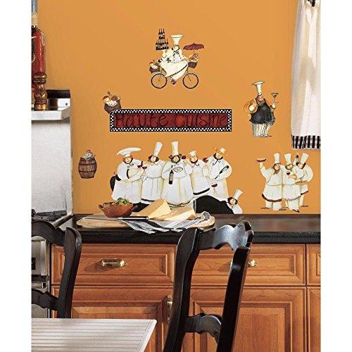 New Italian Fat CHEFS Peel & Stick Wall Decals Kitchen Bistro Cafe Sticker Decor