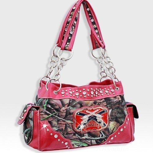 5d12fc8ef0 Pink Camo Western Pistol Gun Redneck Fashion Purse  Handbags  Amazon.com