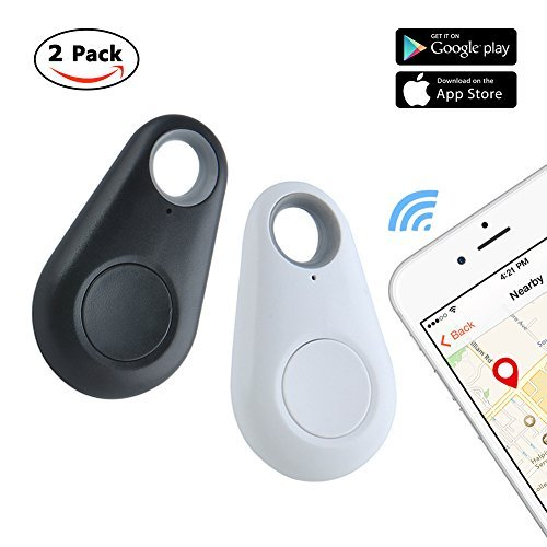 Key Finder Locator Key chain Bluetooth Smart Tracker Wireless Anti Lost Alarm Sensor for Pets, Wallet, Kids, Phone, Bags (Black and White)
