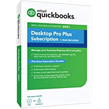 QuickBooks Desktop Pro Plus 2021 Accounting Software for Small Business 1-Year Subscription with Shortcut Guide [PC Disc]