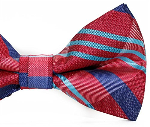 Casual Tie Fashion Bowtie Striped Dating Party Bow Ball Men SKNSM Red Bow Tie IqzPwxaSfB