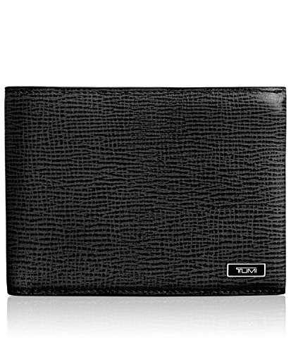 Leather Double Billfold (TUMI Men's Monaco Double Billfold, black, one size)