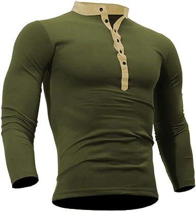 Camisetas De Manga Larga para Hombre, Camiseta De Algodón Tamaños Cómodos De Otoño para Hombre para Hombre Camiseta para Hombre Camiseta De Manga Larga Básica Camiseta De Manga Larga Básica Ropa: Amazon.es:
