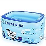 LQQGXL,Bath Blue rectangular children's inflatable pool thickened PVC bathtub Inflatable bathtub ( Color : Electric pump , Size : 140cm )