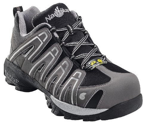 Nautilus Safety Footwear Men's 4340 ESD Soft Toe Athletic Grey 11 ()