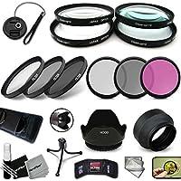 PRO 58MM Filters + 58mm Lens Hood KIT for Nikon AF-S DX NIKKOR 55-300mm f/4.5-5.6G ED VR, Nikon AF-S NIKKOR 50mm f/1.8G, Nikon AF-S NIKKOR 50mm f/1.4G, Nikon AF-S NIKKOR 35mm f/1.8G ED