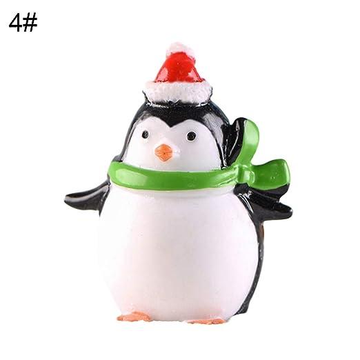 y2y3zfal Adornos Navideños Pingüino del Sur Micro Paisaje ...