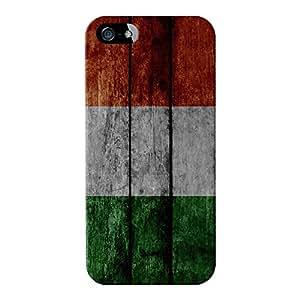 Grunge de bandera de Irlanda Madera Diseño de la bandera de Irlanda Full Wrap Case Impreso en 3d gran calidad, para iPhone 5/5S de UltraFlags