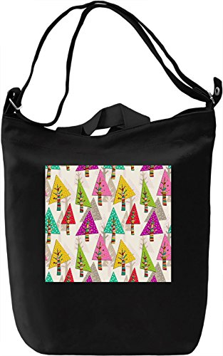 Forest Print Borsa Giornaliera Canvas Canvas Day Bag| 100% Premium Cotton Canvas| DTG Printing|