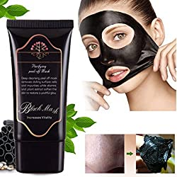 Garyob Blackhead Mask Bamboo Charcoal Mud Nose Blackhead Remover Cleansing Peel Off Removal Mask Black Mud Face Mask 50g