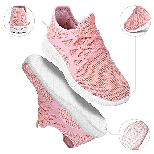 Chaussure Homme Sport Running Femme en Confortable Rose Basket de Leger Lacets ZOCAVIA Chaussures Mesh AqXzzw